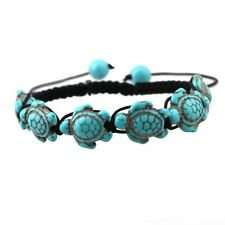 Lovely Fashion Turtle Turquoise Hand Woven Bracelets Bangles Beach Jewelry