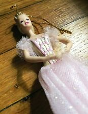 Barbie Ceramic Ornament Pink Dress 5""