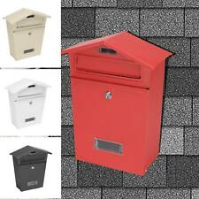 Multicolor Post box Mail Box Large Steel Lockable Outside Letter Wall With Keys
