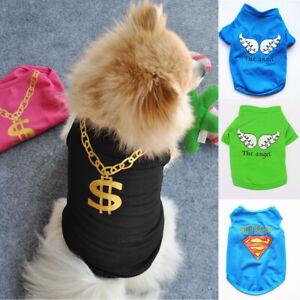Pet Puppy Vest T-Shirt Clothes Coat Outfit Apparel Small Dog Cat Costumes Tops