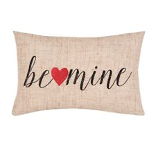 Be Mine Valentine's Day Embroidered Word Pillow