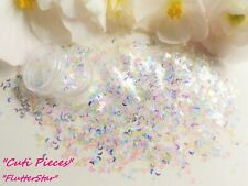 Nail Art *FlutterStar* Butterfly Moon Holographic Iridescent Pot Spangle Glitter