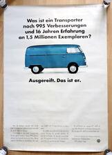 "orginal Plakat Werbe Poster ""Erster VW Bus T1"" 1966 Transporter Bulli rare"