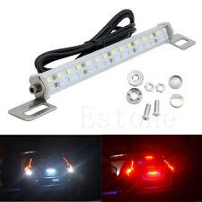 30LED 18W Car Bar Brake Tail Reverse Light Rear License Plate Lamp Red White