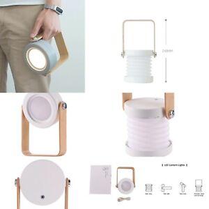 Christmas LED Lamp USB Wooden Handle Portable Lantern Telescopic Folding Table L