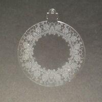 Laser Coupe & Gravé Acrylique Transparent Perspex Boule - Noël,Nordique,Rustique