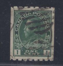 #123 1c Dark Green Canada Grade: XF 90 Used w/PSE cert.  (JH 6/26/21)
