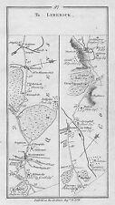 1778 Ireland Maryborough Mountrath Roscrea Tipperary etc Antique Road Map