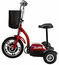 NEW SCOOTER -ZOOME3-Drive Medical Three Wheel Recreational Power Scooter, Red