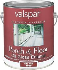 NEW VALSPAR CASE OF (2) GALLONS # 1089 TILE RED OIL GLOSS PORCH FLOOR PAINT
