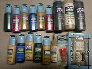 Gallery Glass Art Decorating Partial Kit Liquid Paints Cathedral Effect Windows