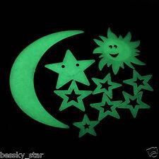 Modren Decor Stars Moon Sun Glow In The Dark Luminous Home Wall Stickers Decal