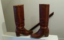 FRYE Vintage 17in Cavalry Stripe Western Style Riding Boots 6.5B