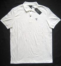 Herren Poloshirt weiß kurzarm Sportshirt T Shirt Polokragen M L XXL Guess