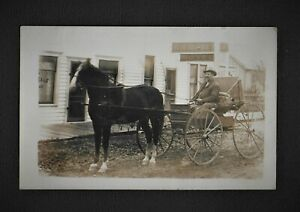 "WA RPPC GARFIELD WASHINGTON Garfield Hotel ED And His Horse ""KING"""