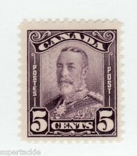 Canada 1928 #153 * MH F 5 cent stamp - King George V Scroll Issue