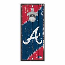 MLB Atlanta Braves Baseball Bottle Opener Wood Sign Holzschild Holz Wandschmuck