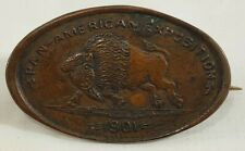 1901 Pan-American Exposition Elongated Penny Bison Pin