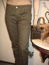 Zero Otto Uno 081 Italy jeans olive denim olive green button fly skinny NWOT 32