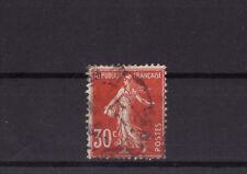 timbre France    Semeuse  30c rouge       num: 160    oblitéré