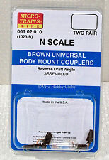 Micro-Trains 00102010 N 1023B Brown Universal Body Mount Couplers. New