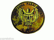 Patch XIX Compagnia Paracadutisti Linci Folgore Mimetica Vegetato Esercito Itali