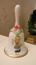 """Precious Moments Le 2012 Collector Bell Light Up Your Heart W/ Christmas 6"""" Nib"""