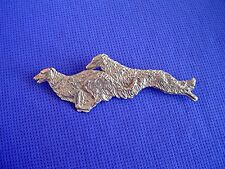 Borzoi Russian Wolfhound Pin Chase #17N Pewter Dog Jewelry by Cindy A. Conter