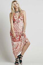 NEW Novella Royale Maxi Dress orange white Floral Printed M $205
