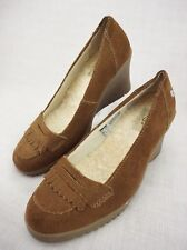 UGG Australia 5448 Shearling Brown Suede Wedge Sheepskin Comfort Women's US 7