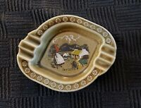 Vintage Irish Ashtray with Woman and Cottage - Wade Co. Armagh - Made In Ireland