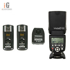 YongNuo YN560III Flash Light + RF-602 2.4GHz Wireless Remote Triggers for Nikon