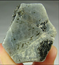 natural Blue CORUNDUM crystal SAPPHIRE record keeper triangles  ZIMBABWE