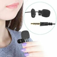 Mini Clip On Lapel Microphone Hands-free 3.5mm Wired Condenser Lavalier Mic