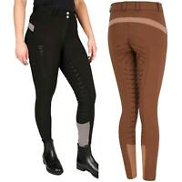 B&A Charlotte Ladies Breeches Womens Horse Riding Knee Patch Stretch Equestrian
