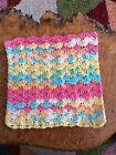 Crochet DishCloths.face Cloth.wash Cloth.size 7.5x7.5 Inches.multicoloured.shell