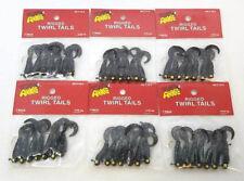 6 PACKS OF ARKIE RIGGED TWIRL TAIL GRUBS - 1/16OZ BLACK 7 PER PACK (RCT-16-5)