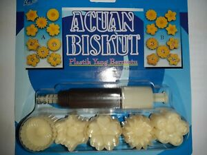 Malaysia Cookie Cutter / Jam Tart  / Plunger Type / 5 designs / Design A