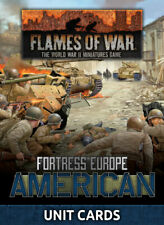 Flames of War Late War Fortress Europe American Unit Cards (Fw261U)