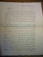 Hector d'AUBUSSON DOCUMENT MANUSCRIT SIGNE BRIVE LIMOUSIN RESTAURATION 1818
