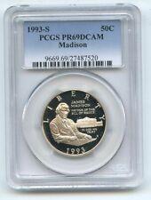 1993 S 50C Bill of Rights Madison Commemorative PCGS PR69DCAM