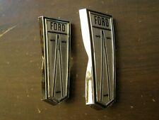 OEM Ford 1966 Galaxie Front Fender Ornaments Pair Emblems Trim 500 XL LTD nos