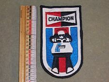 Vintage Champion Sparkplugs Snowmobile Advertising Patch 1970's