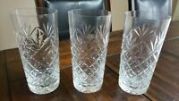 Vintage Cut Glass Set of (3)