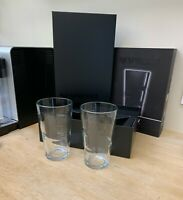 NESPRESSO Set of 2 LARGE VIEW COFFEE RECIPE GLASSES - TEMPERED GLASS 16 oz NIB