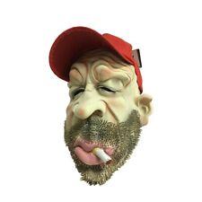 Smoking Old Man Funny Mask & Cap Halloween Adult Latex Mask Fancy Dress - AU