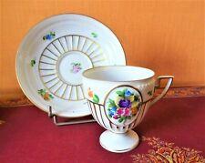 Tasse et sous-tasse anciennes en Porcelaine .Marque Herendhvngary