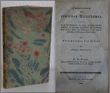 Brand Handbuch römischer Alterthümer 1828 Altertümer Antike Kultur Rom ara