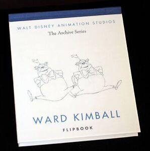 Walt Disney NINE OLD MEN Ward Kimball Flipbook Tweedle Dum & Dee Animation Book