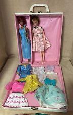 Vintage Mattel Julia Barbie Doll+Barbie Clone, Case, And Clothes